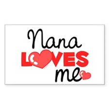Nana Love Me (red) Rectangle Decal
