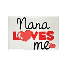 Nana Love Me (red) Rectangle Magnet