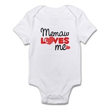 Memaw Love Me (red) Infant Bodysuit