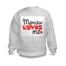 Memaw Love Me (red) Sweatshirt
