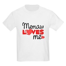 Memaw Love Me (red) Kids T-Shirt