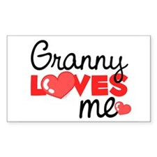 Granny Love Me (red) Rectangle Decal