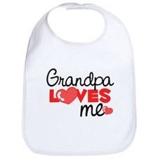 Grandpa Love Me (red) Bib