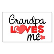 Grandpa Love Me (red) Rectangle Decal