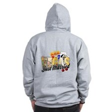 Vegas Wedding Just Married Zip Hoodie