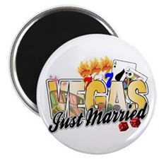 Vegas Wedding Just Married Magnet