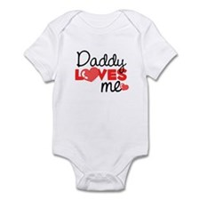 Daddy Love Me (red) Infant Bodysuit