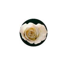 White Rose Mini Button