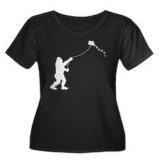 Bigfoot Stole My Kite Plus Size T-Shirt
