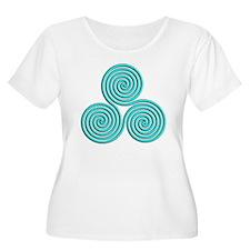 triskele Baby Blue Plus Size T-Shirt