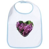 Lilac Heart Art #1 Bib