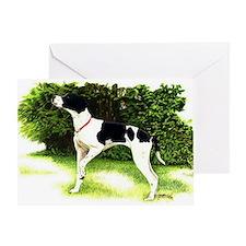 English Pointer Dog Portrait Greeting Card