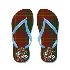 Connolly Tartan Unicorn Flip Flops