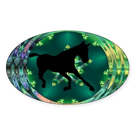 Horse Oval Sticker