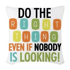 Do The Right Thing Woven Throw Pillow