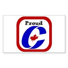 Proud Canadian Conservative Rectangle Bumper Stickers