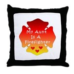 Firefighter Aunt Throw Pillow