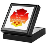 Firefighter Aunt Keepsake Box