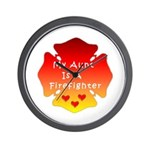 Firefighter Aunt Wall Clock