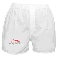 Proud EMT: Great Grandmother Boxer Shorts