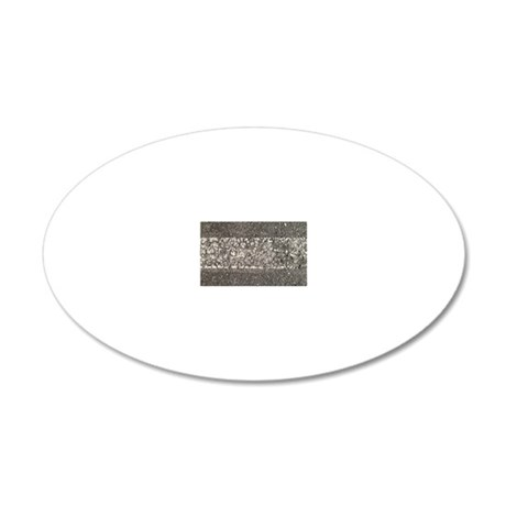 Pavement 1 20x12 Oval Wall Decal