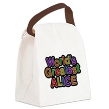 Worlds Greatest Alice Canvas Lunch Bag