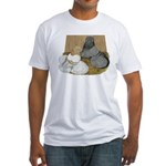 English Trumpeter Duo Fitted T-Shirt