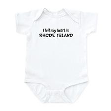 Left my Heart: RHODE ISLAND Infant Bodysuit