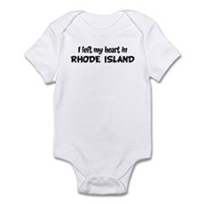 Left my Heart: RHODE ISLAND Onesie