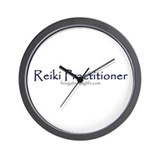 Reiki Practitioner purple Wall Clock