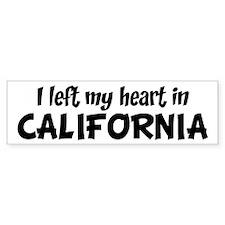 Left my Heart: CALIFORNIA Bumper Bumper Sticker