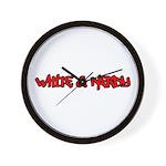White and Nerdy Wall Clock