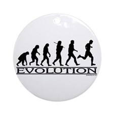 Evolution (Man Running) Ornament (Round)