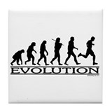 Evolution (Man Running) Tile Coaster