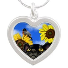 sunflowerbcat                Silver Heart Necklace