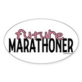 Future Marathoner Oval Decal