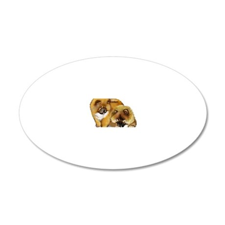 chow2                        20x12 Oval Wall Decal