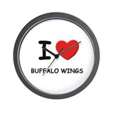 I love buffalo wings Wall Clock
