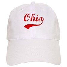 Red Vintage: Ohio Baseball Cap