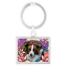 border collie copy              Landscape Keychain