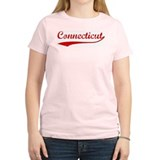 Red Vintage: Connecticut Women's Pink T-Shirt