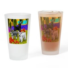 schnauzer8 copy Drinking Glass