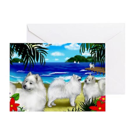 beachsamoyed Greeting Card