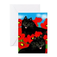 schipperkepoppies copy Greeting Card