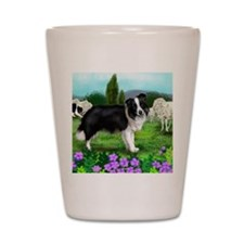 border collie3 copy Shot Glass