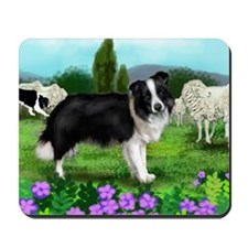 border collie3 copy Mousepad