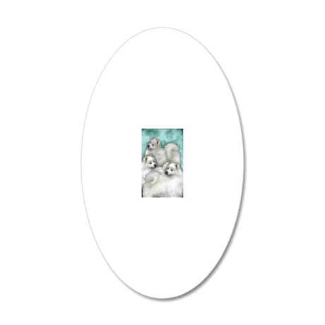 samoyed3PR 20x12 Oval Wall Decal