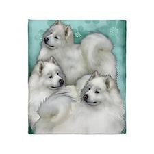 samoyed3PR Throw Blanket