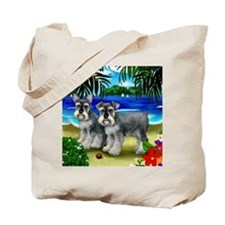 schnauzerbeachdogs copy Tote Bag