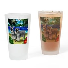 schnauzerbeachdogs copy Drinking Glass